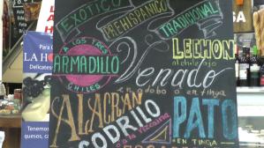 Mexico Panneau marché San juan